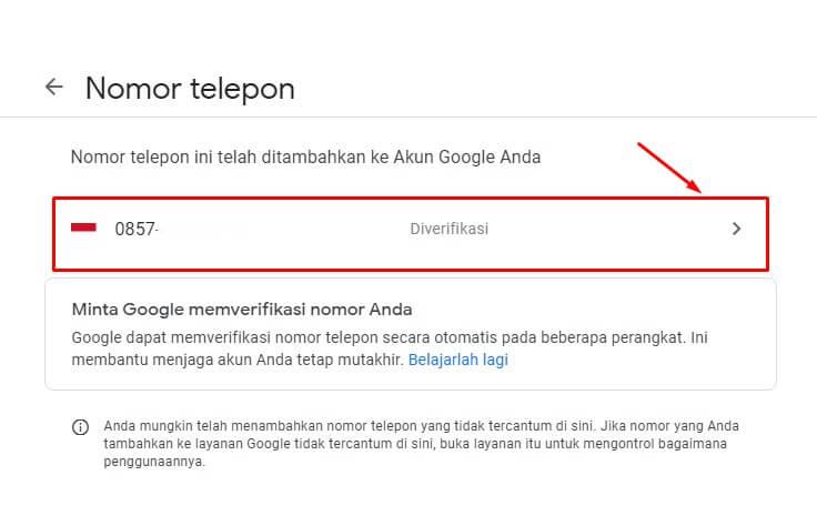 cara mengubah nomor hp di gmail dengan pc