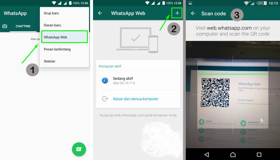 Buka Menu WhatsApp Web di HP dan Scan QR Code