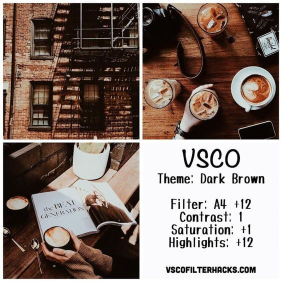 Rumus VSCO Dark Brown Aesthetic