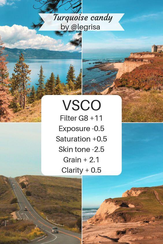 Rumus edit VSCO untuk pemandangan Alam