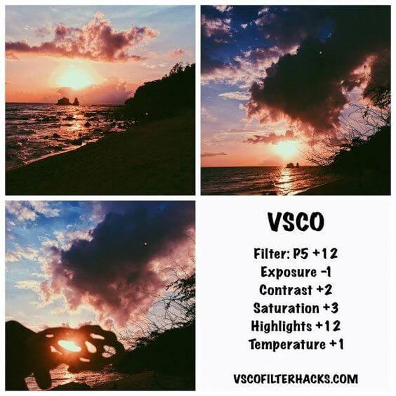 Rumus VSCO Sunset