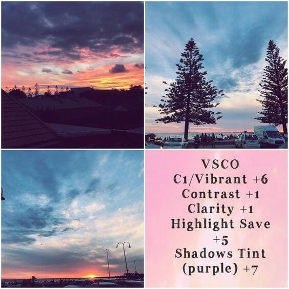 Rumus VSCO Sunset & Sunrise
