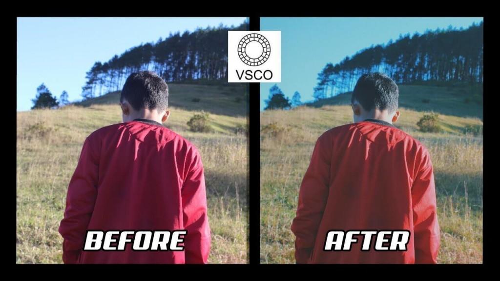 sebelum dan sesudah menggunakan rumus filter vsco selfie