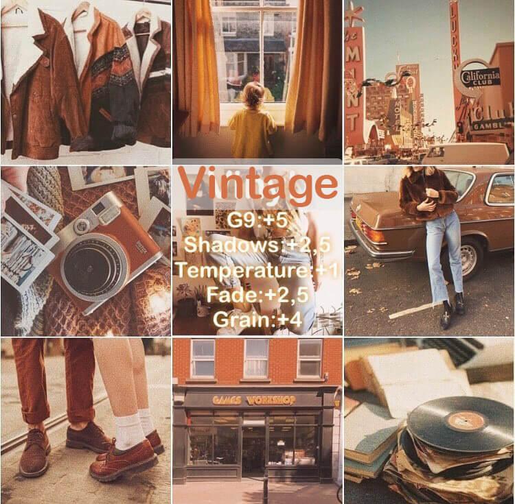 Rumus VSCO Vintage