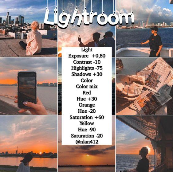 Rumus Lightroom Senja 1