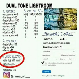 Rumus Adobe Lightroom Dual Tone 2