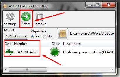Cara Flash HP Asus Dengan PC via Flashtool