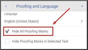 Cara Menghilangkan garis merah pada Word di HP