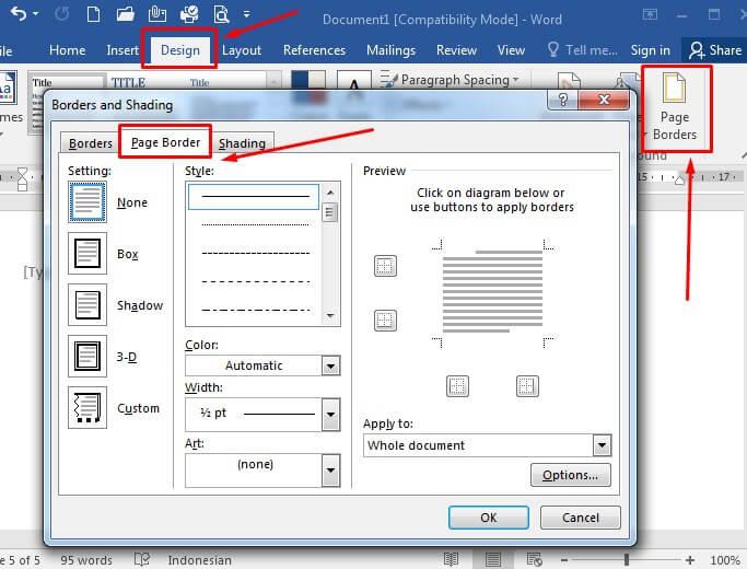 Cara membuat border di Microsoft Word