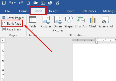 Cara membuat halaman atau page baru di Word