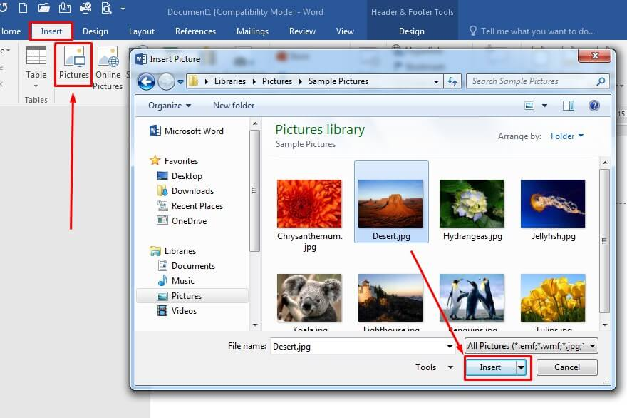 Cara menambahkan gambar di Microsoft Word