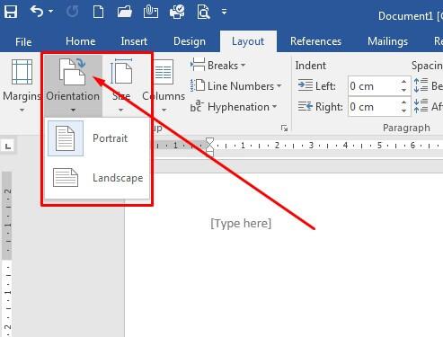 Cara mengubah orientasi kertas di Microsoft Word