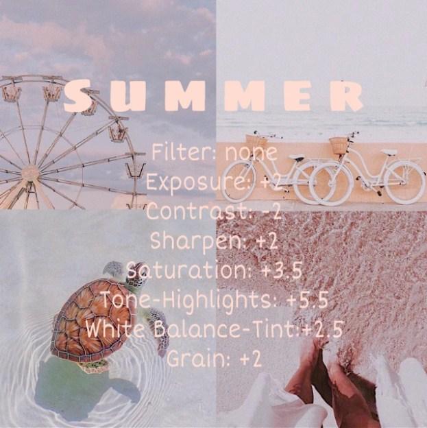 Rumus VSCO Summer 1