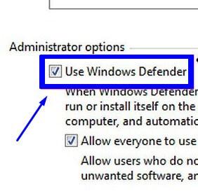 Centang di Use Windows Defender