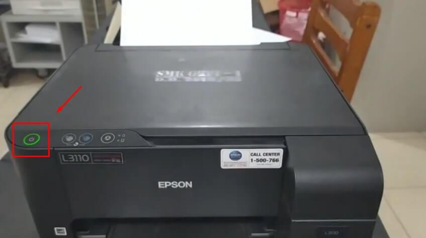 Nyalakan Printer Epson L3110