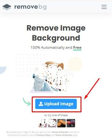 upload foto atau gambar yang ingin kamu hapus background belakanganya secara online tanpa aplikasi