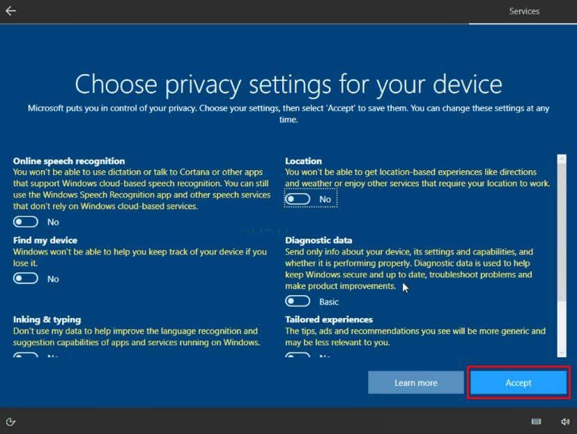 Atur Privacy Setting Untuk No