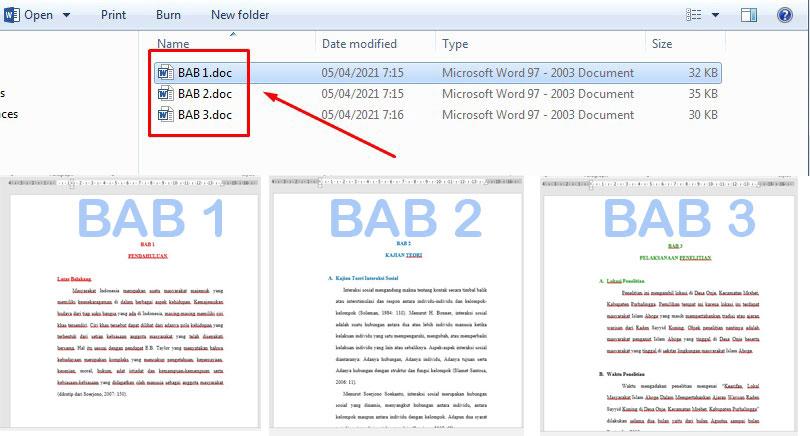 Cara Menggabungkan 3 File Word Menjadi Satu