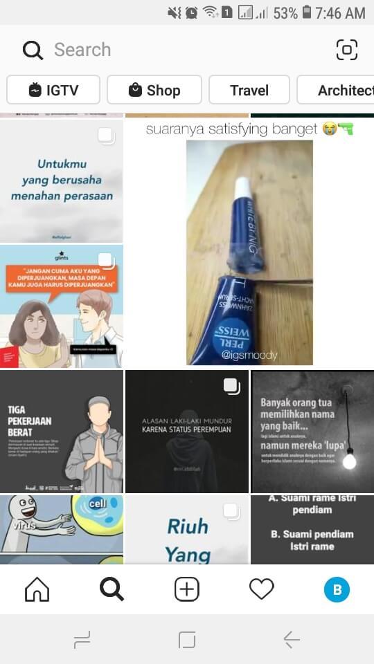 Explore di Instagram