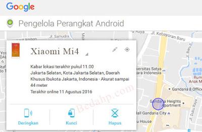 Cara Mengatasi Lupa Pola HP Xiaomi dengan Android Device Manager