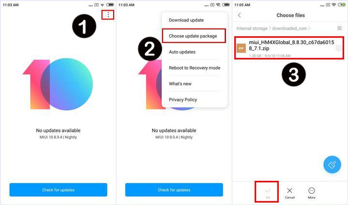 Cara Flash Xiaomi Redmi 4A Tanpa PC via Update Manual