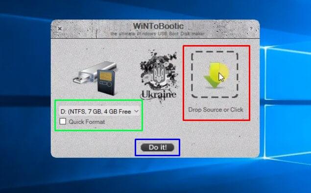 Buka WinToBootic