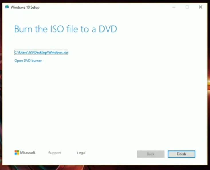 Selesai Download file ISO