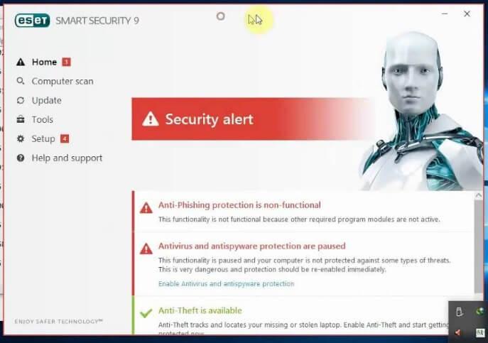 Menonaktifkan Antivirus