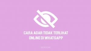Cara Agar Tidak Terlihat Online di WhatsApp untuk menyembunyikan status online di WA