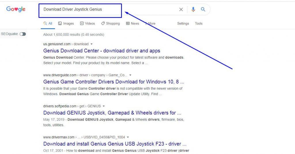 Cari Driver Joystick di Google