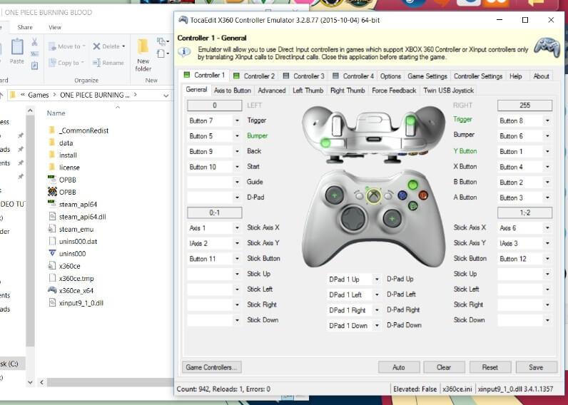 Memakai x360 Emulator Joystick