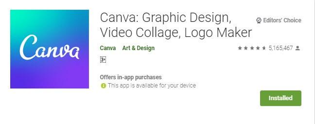 1 Canva - Aplikasi Desain Grafis pembuat CV di HP