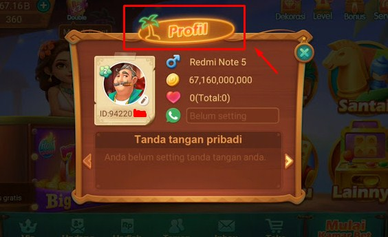 Siapkan Screenshot Detail Profil