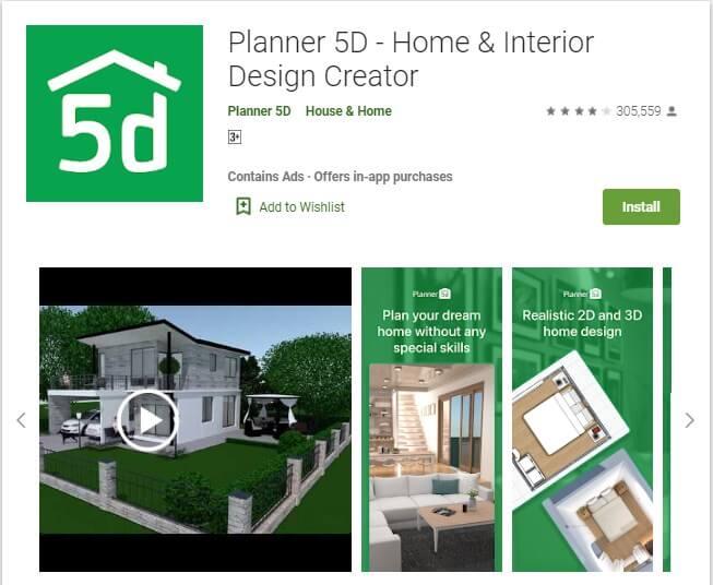 Aplikasi Planner 5D - Home & Interior Design Creator