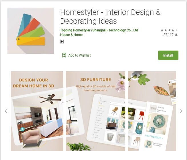 Aplikasi Homestyler - Interior Design & Decorating Ideas