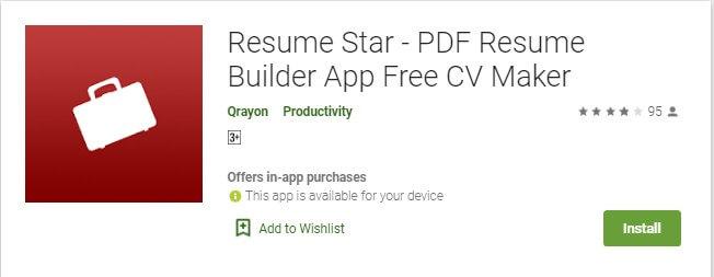 11 Aplikasi Resume Star untuk membuat Curriculum Vitae di HP Smartphone Android