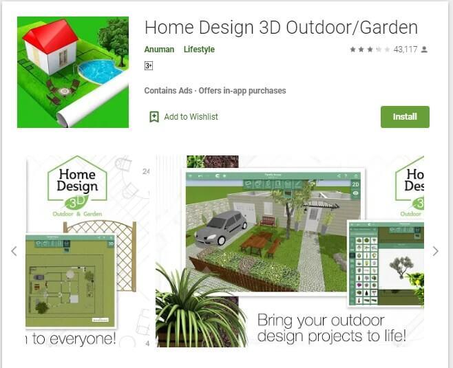 Aplikasi Home Design 3D Outdoor/Garden