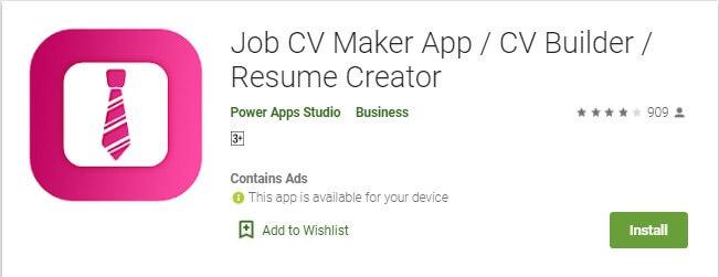 12 Menggunakan Aplikasi Job CV Maker untuk membuat CV lewat HP Android