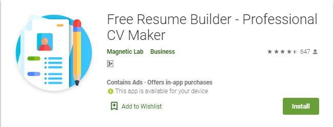 14 Aplikasi Free Resume Builder di HP Android untuk membuat CV lewat HP