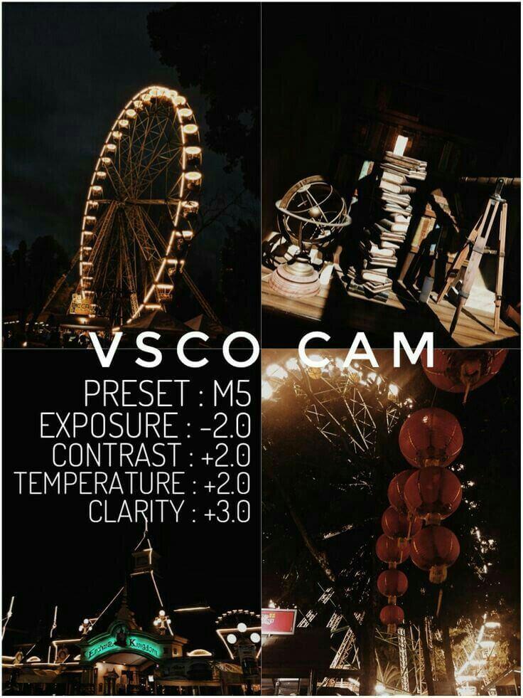 17 Preset VSCO Aesthetic malam hari night
