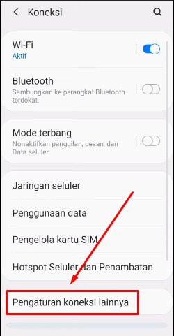 3. Pilih More Connection Settings