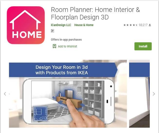 Aplikasi Room Planner: Home Interior & Floorplan Design 3D