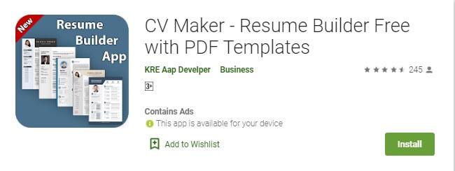 9 CV Maker untuk membuat CV di HP kamu