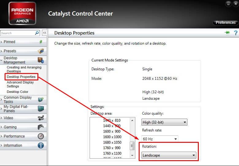 Cara mengembalikkan layar laptop yang terbalik melalui AMD Catalyst