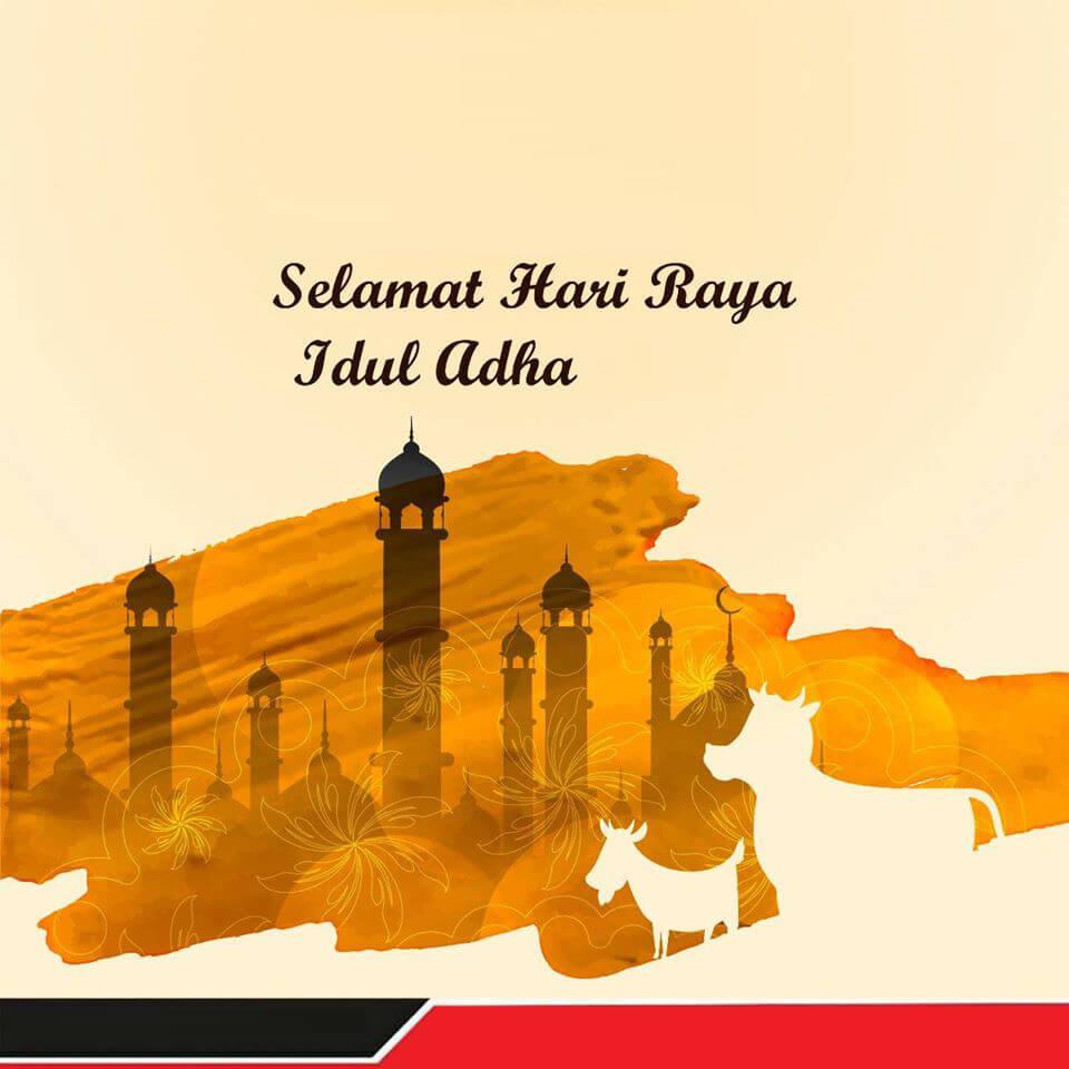 Contoh Desain Kartu Ucapan Selamat Idul Adha 2021