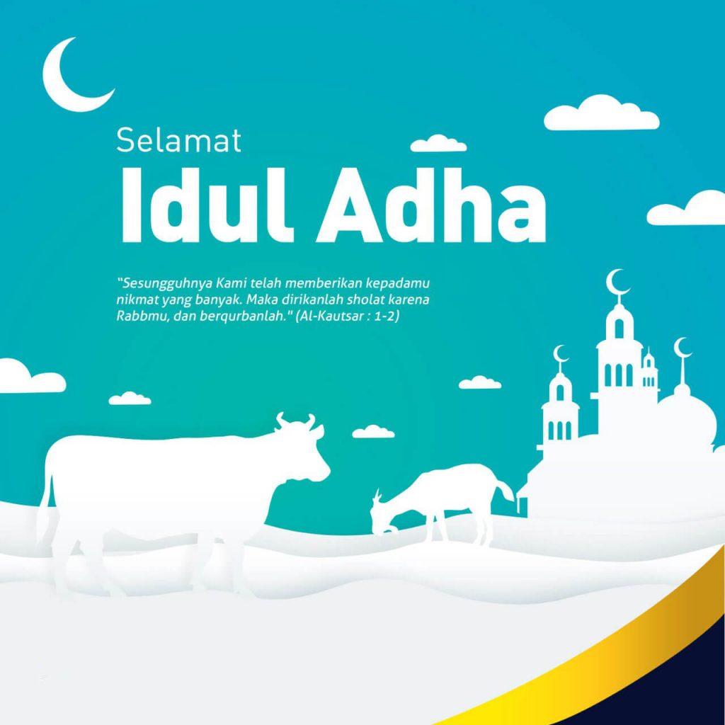 Contoh Gambar Desain Kartu Ucapan Selamat Idul Adha 2021