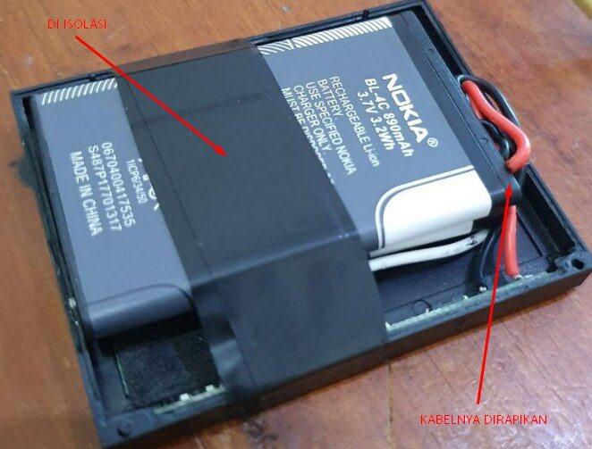 Tutorial memperbaiki Printer Bluetooth yang baterainya rusak dengan merakit baterai nokia
