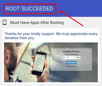 Proses Root Android Berhasil