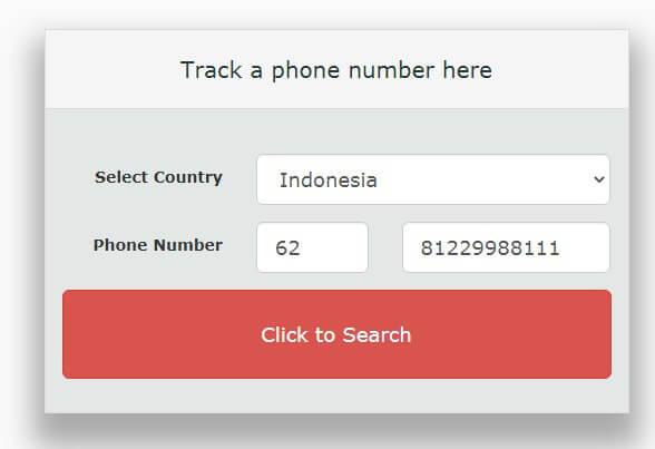 cara melacak HP yang hilang dengan nomor HP melalusi situs Tracker