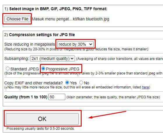 cara Mengecilkan Ukuran Foto di HP Secara Online lewat IMGonline